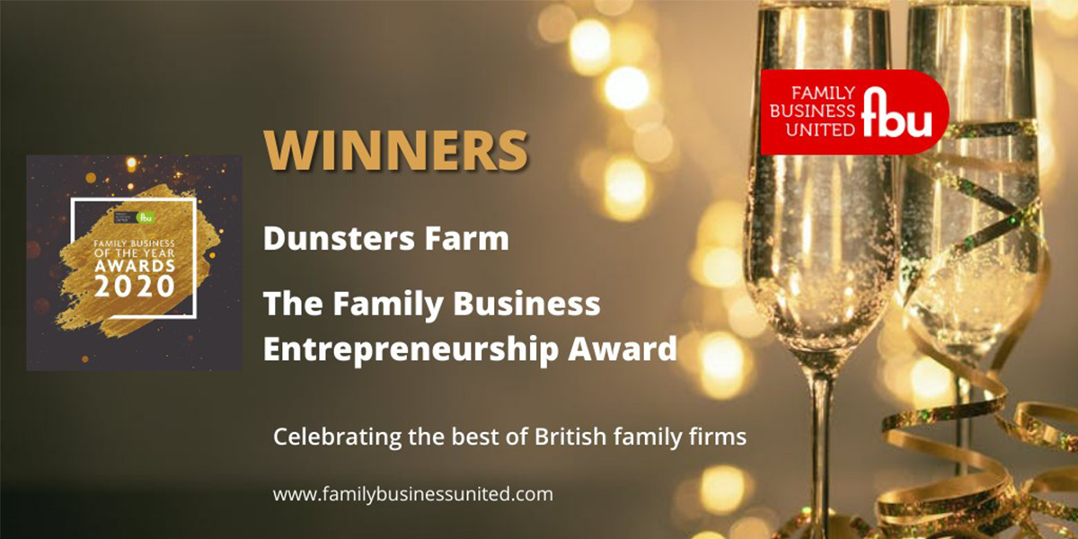Dunsters Farm Celebrate Success at the Family Business of the Year Awards