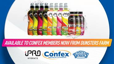 iPRO's Healthy Hydration Drinks Range Now Available to Confex Members Through Dunsters Farm