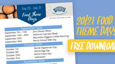 Free Download: Food Theme Day 20/21 Calendar