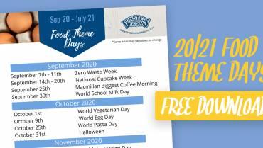 Free Download: Food Theme Day 20/21 Calendar