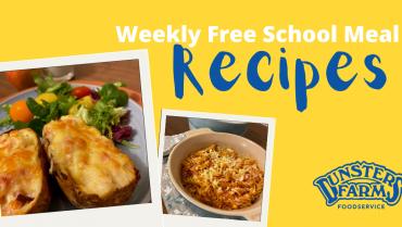Free School Meal Recipes – Cheese & Ham Potato Skins and Tuna Pasta Bake