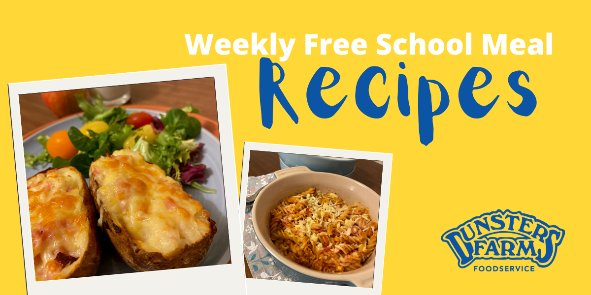 Free School Meal Recipes – Cheese & Ham Potato Skins and Tuna Pasta Bake