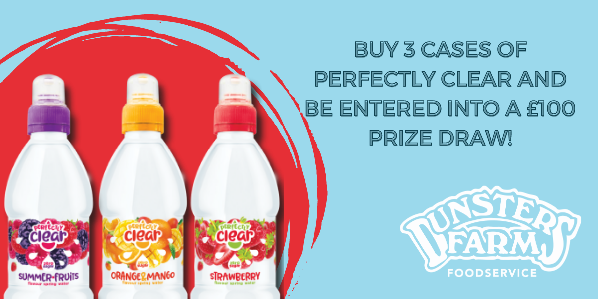 Buy Perfectly Clear Drinks this April and you could Win £100!